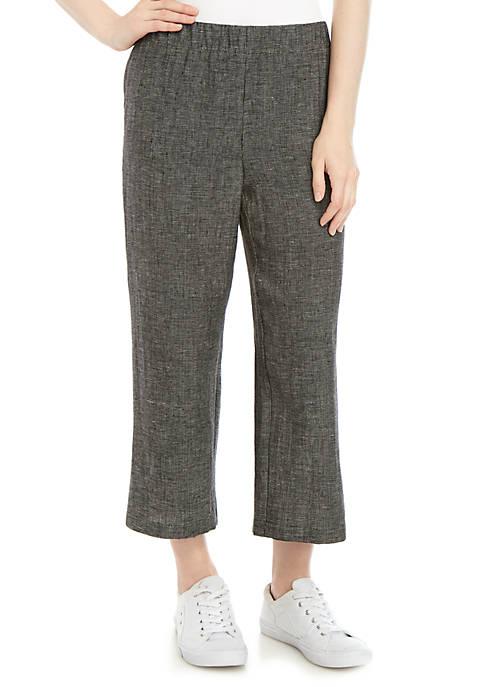 Eileen Fisher Tweed Straight Crop Pants