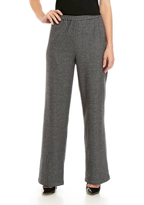 Womens Straight Full Length Wool Pants