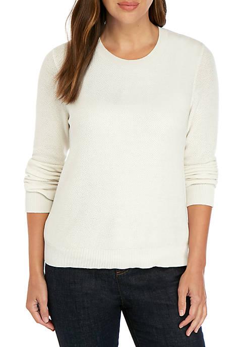 Eileen Fisher Round Neck Tencel Sweater