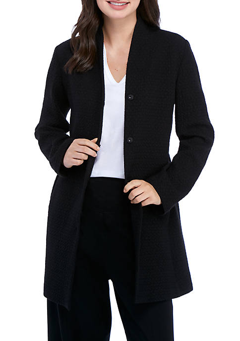 Essential Textured Long Jacket