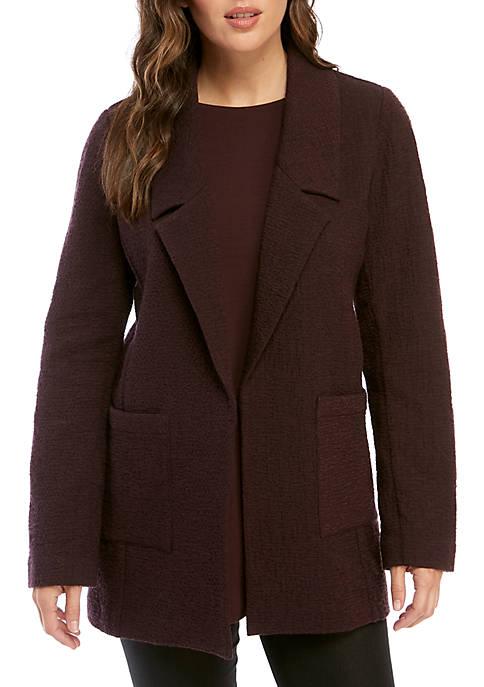 Notch Collar Pucker Jacket