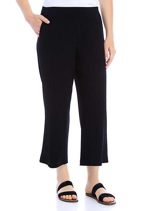 Eileen Fisher Rib Knit Straight Crop Pants