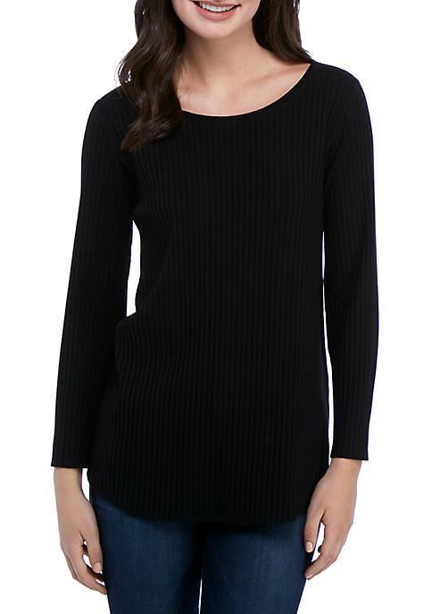 Eileen Fisher Rib Boat Neck Tencel® Knit Shirt