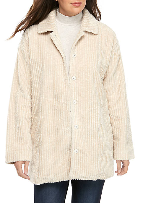Plush Cord Short Jacket