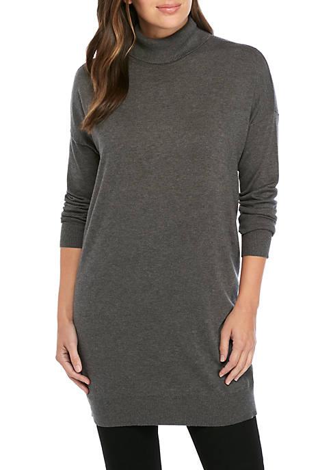 Eileen Fisher Cozy Turtleneck Tunic Sweater