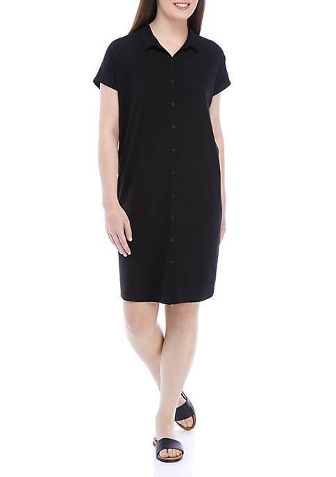 Eileen Fisher Tencel® Jersey Shirt Dress