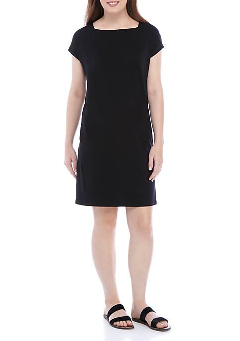 Eileen Fisher Square Neck Short Sleeve Dress
