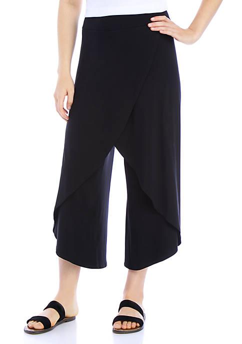 Eileen Fisher Faux Wrap Wide Leg Pants