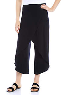 Eileen Fisher Faux Wrap Wide Leg Pants