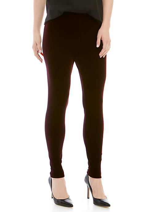 Womens Velvet Ankle Leggings