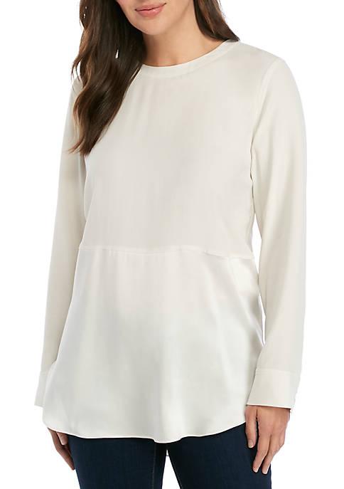 Eileen Fisher Round Neck Silk Tunic