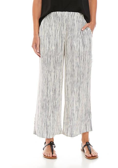 Eileen Fisher Vertical Stripe Wide Leg Pants