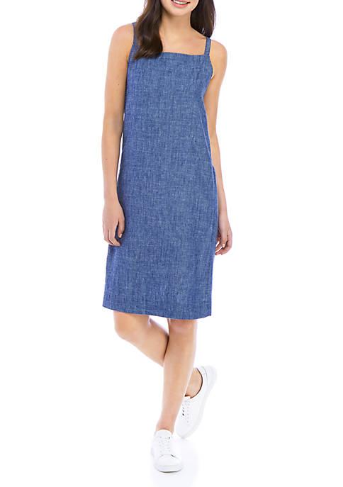 Pocket Chambray Romper Dress