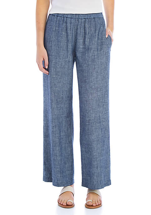 Straight Chambray Pants