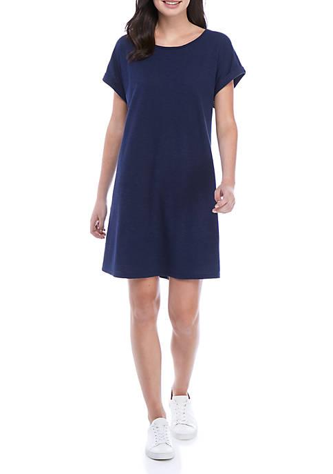 Scoop Neck Short Dress