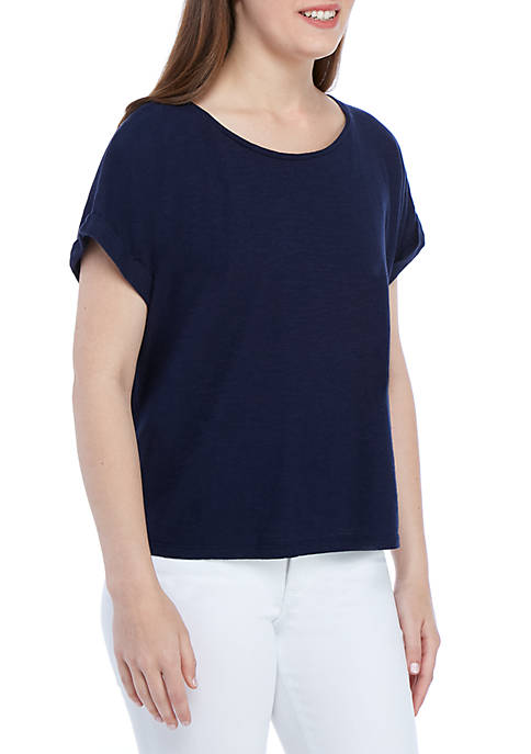 Eileen Fisher Scoop Neck Short Sleeve Boxy T