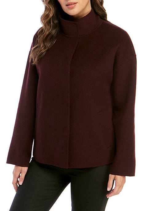 Eileen Fisher Stand Collar Boxy Jacket
