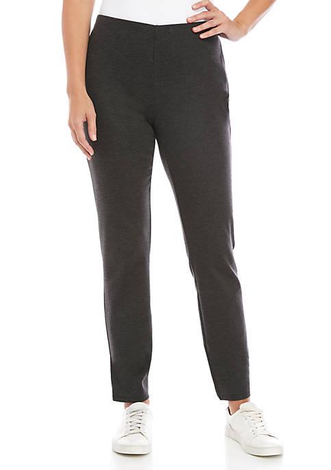 Eileen Fisher Slim Melange Ponte Pants