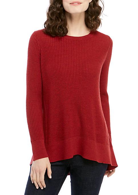Eileen Fisher High Low Merino Wool Sweater