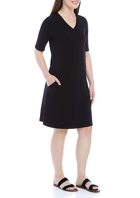 Eileen Fisher V Neck A Line Dress