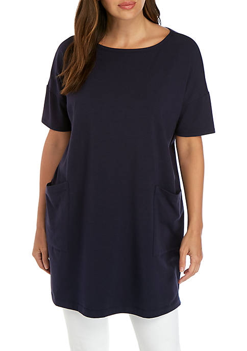 Eileen Fisher Ballet Neck Pocket Tunic