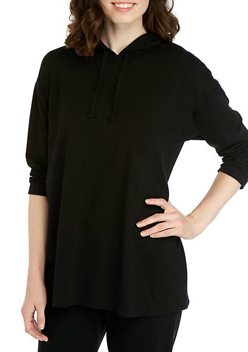 Eileen Fisher Jersey Tunic Hoodie