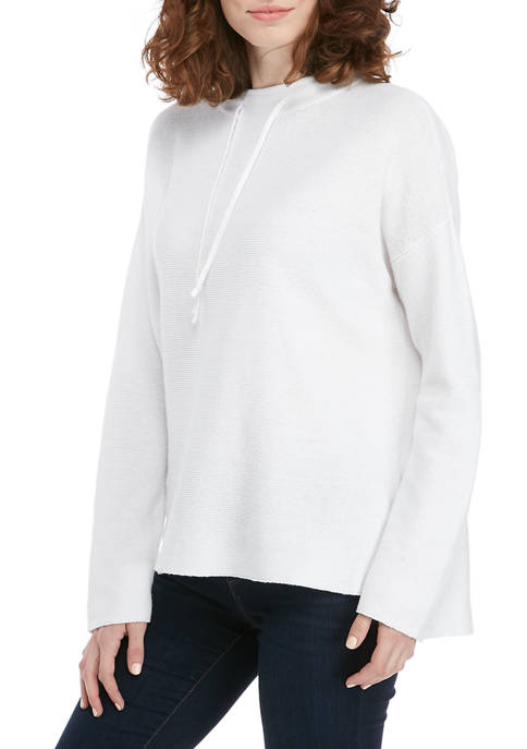 Womens Funnel Neck Step Hem Sweater
