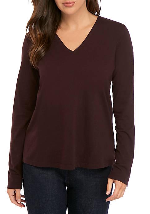Long Sleeve V Neck T-Shirt