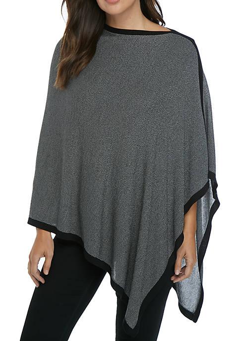 Birdseye Poncho Sweater