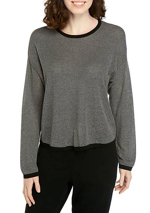 Eileen Fisher Crew Neck Birdseye Sweater