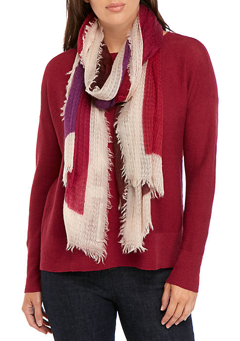 Eileen Fisher Cashmere Color Block Scarf