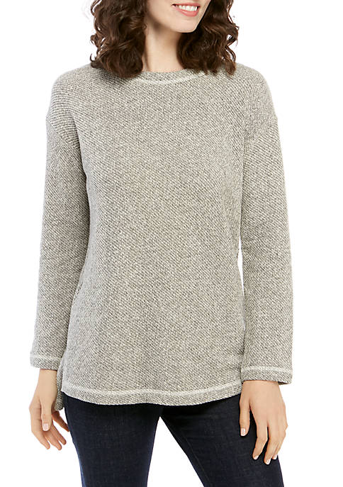 Eileen Fisher Round Neck Marled Tunic