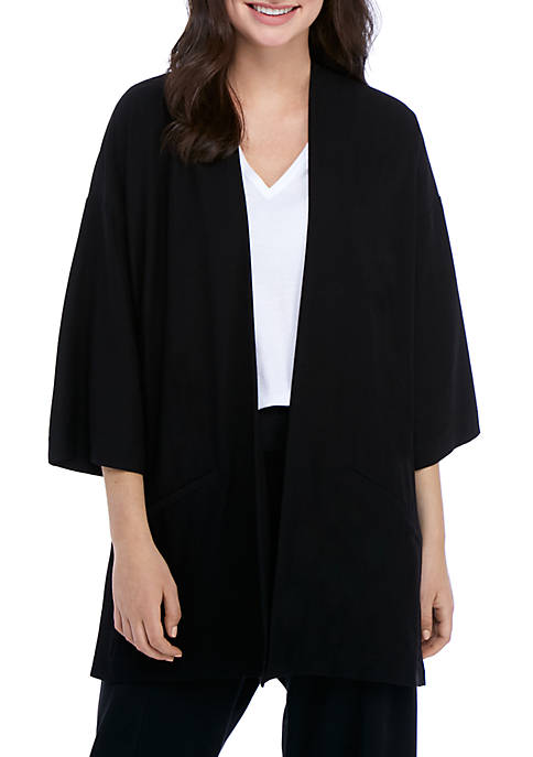 Eileen Fisher Straight Crop Kimono Jacket