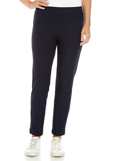 Eileen Fisher Washed Crepe Slim Ankle Pants