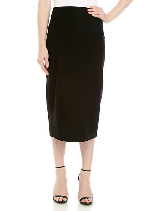 Midi Slim Crepe Skirt