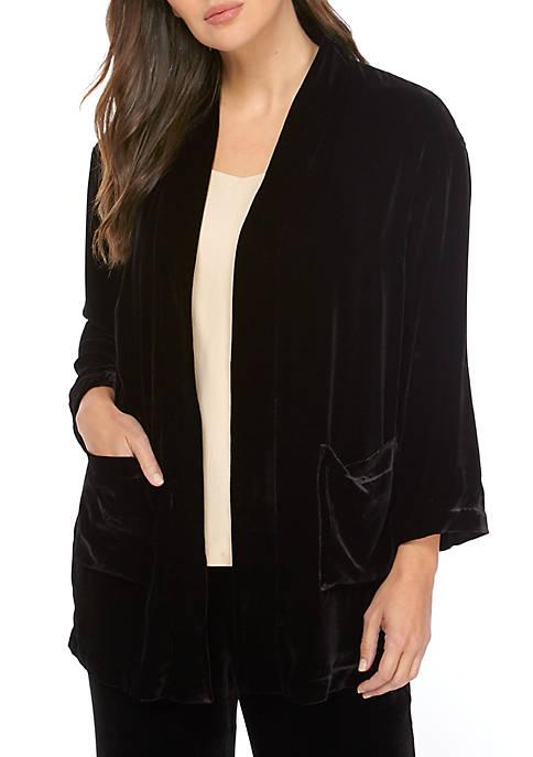 Eileen Fisher Velvet Kimono Jacket