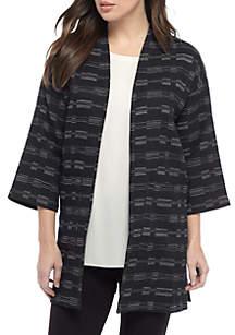 Three-Quarter Kimono Sleeve Jacket
