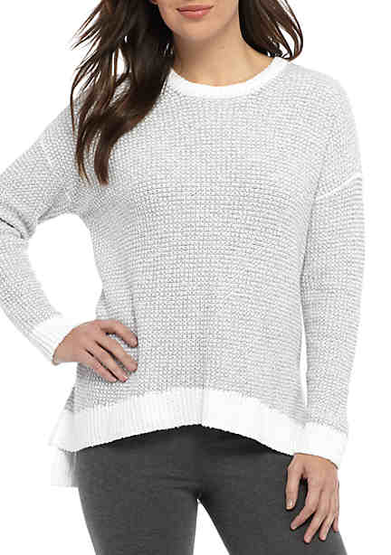Eileen Fisher Round Neck Long Sleeve Sweater ...