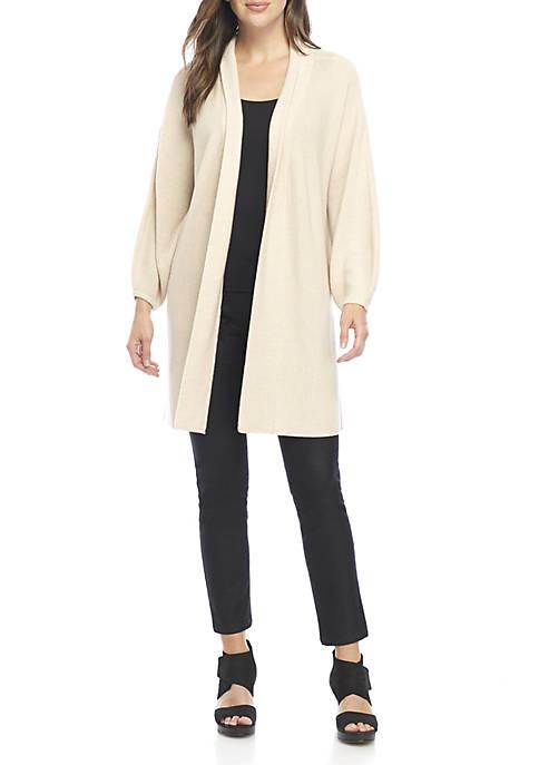 Eileen Fisher Long Puff Sleeve Cardigan