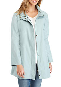 Stand Collar A-Line Jacket