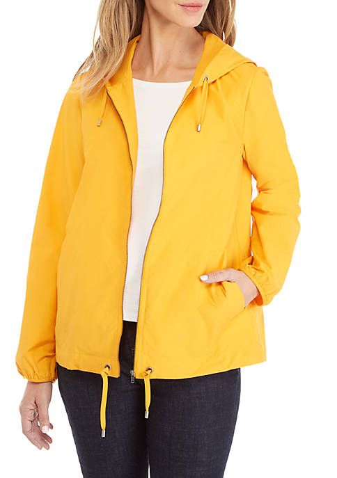 Eileen Fisher Hood Zip Nylon Jacket