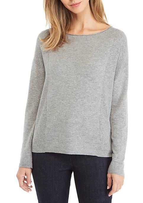 Eileen Fisher Bateau Neck Cashmere Sweater