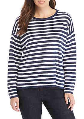 000cd427ca8 Eileen Fisher Split Hem Stripe Sweater ...