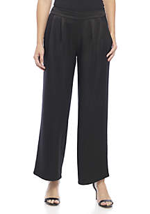 Pleated Waist Satin Pants