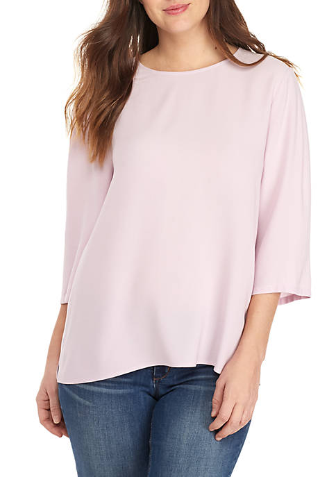 Round Neck Crepe Top