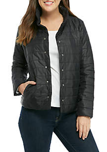 Collar Quilted Jacket