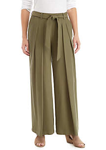 Wide Leg Heavy Tencel™ Belt Pants