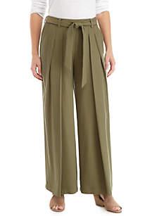 Wide Leg Heavy Tencel™ Belt Pants