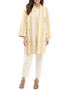 Eileen Fisher Stripe Kimono Jacket