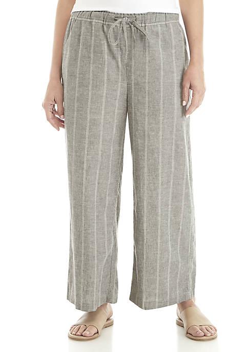 Eileen Fisher Plus Size Stripe Pants